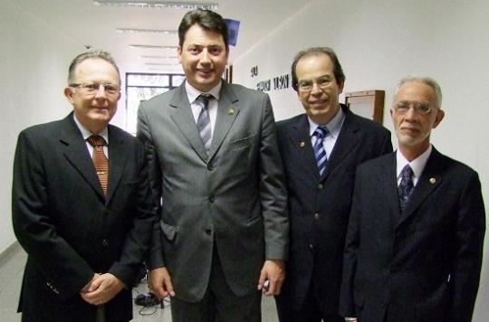 Da esq. para a dir.: Nilo Celso Pires, Sérgio Souza, José Ricardo Dias Pereira, José Alberto Cabral Botelho. (Foto: CFO)