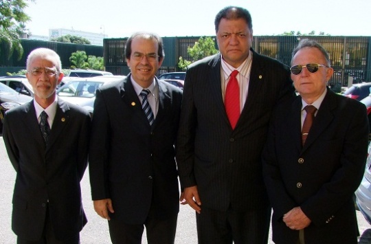 Da esq. para dir.: José Alberto Cabral Botelho, José Ricardo Dias Pereira, Assis Melo, Nilo Celso Pires. (Foto: CFO)